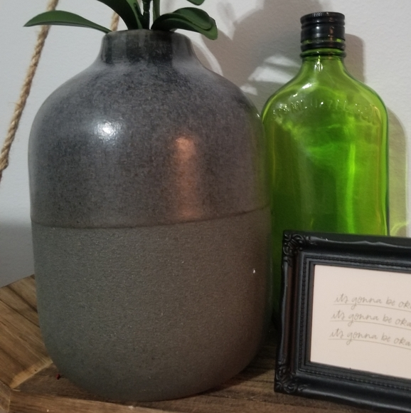 Charcoaled Color Textured Vase
